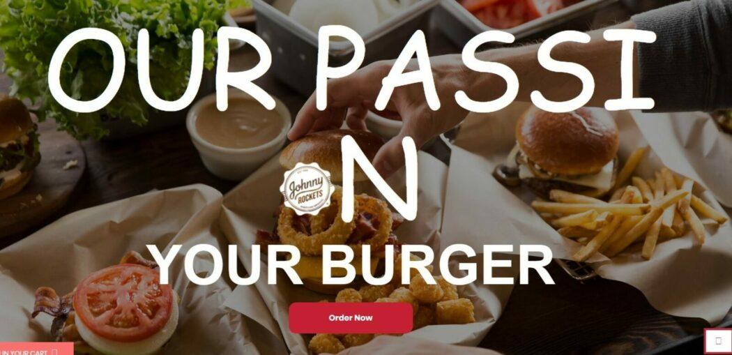 Burger Jhonny Rockets UAE web design