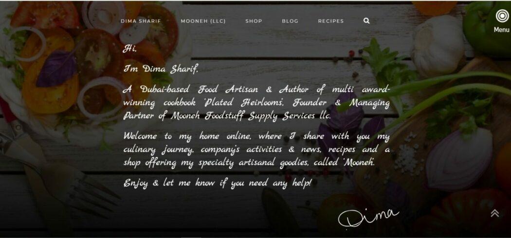 Dima sharif food blogger