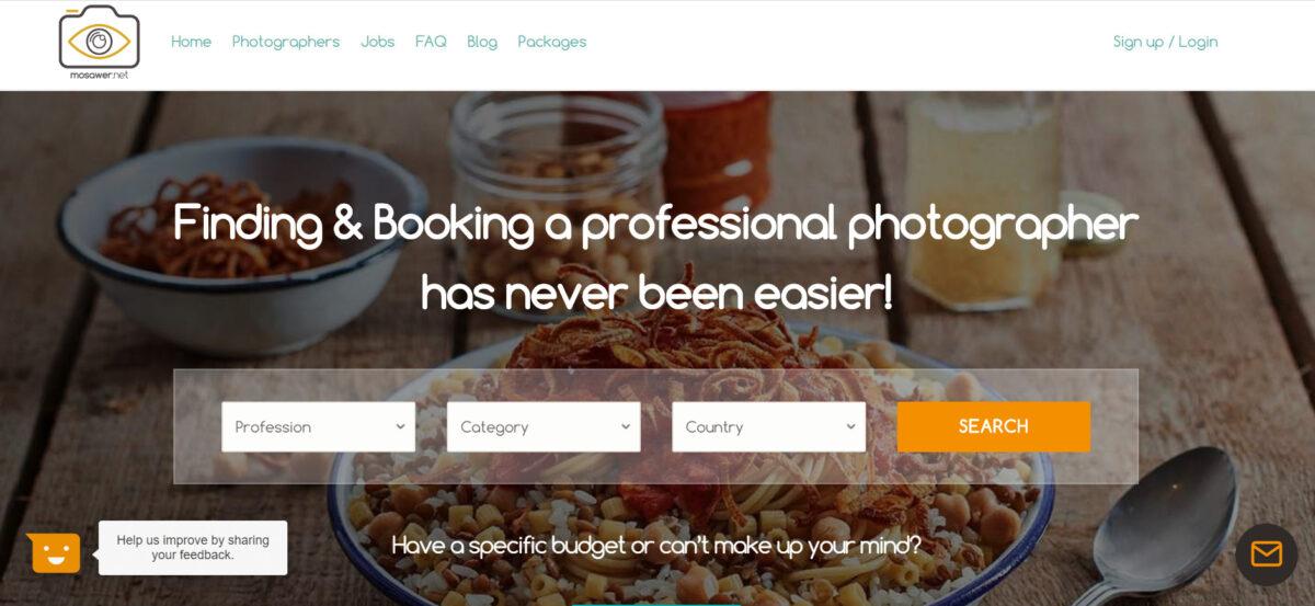 Mosawer.net professional photographer freelance websites