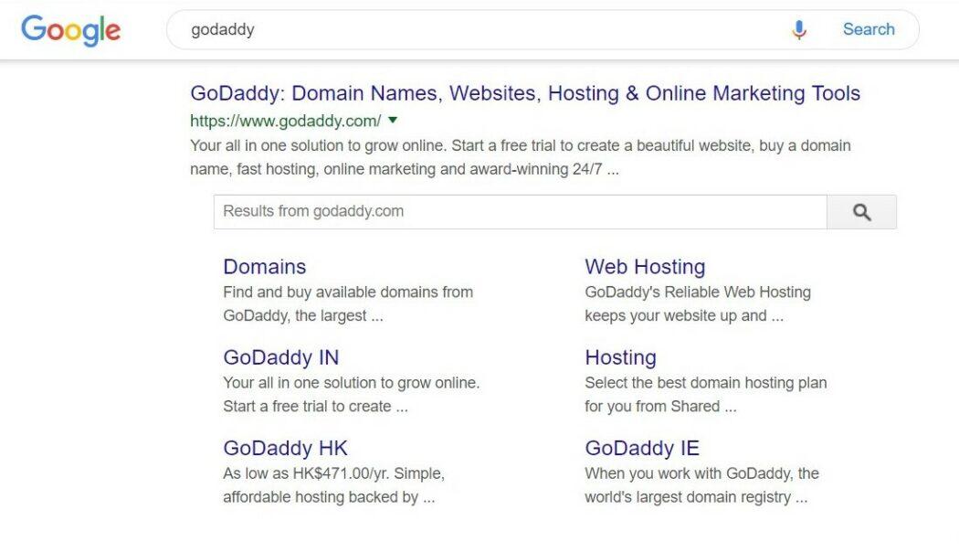 SEO godaddy google search