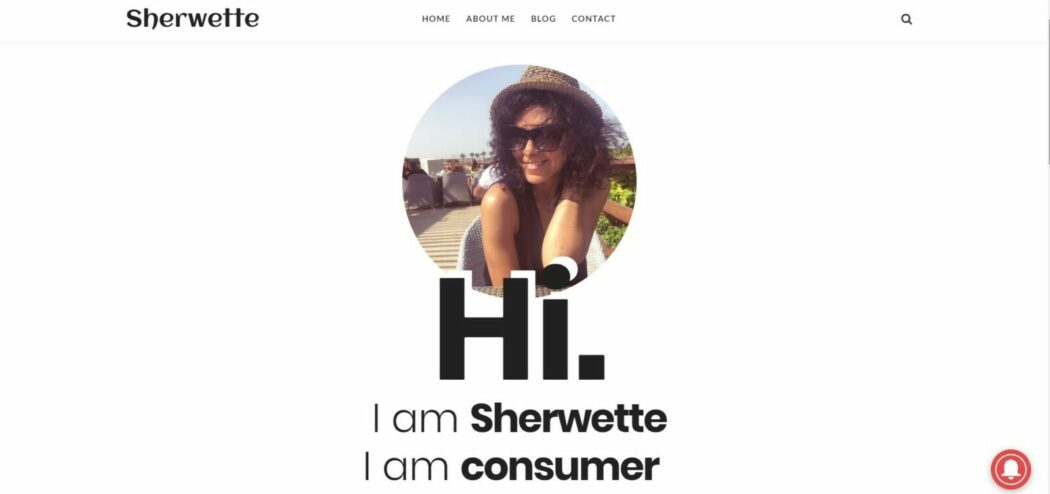 Sherwette consumer behaviour blog homepage
