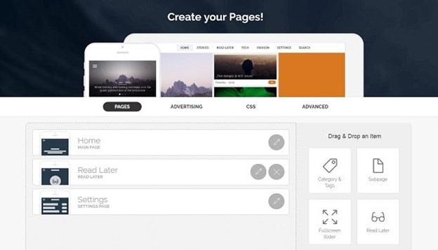 app pages templates
