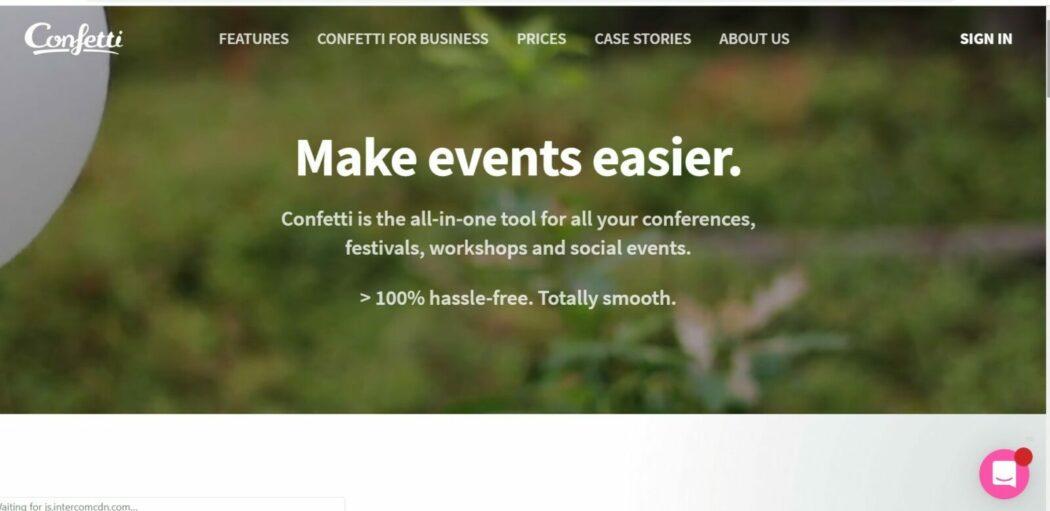 confetti events website