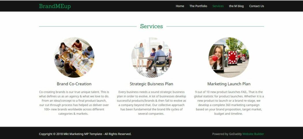 creating brands website services
