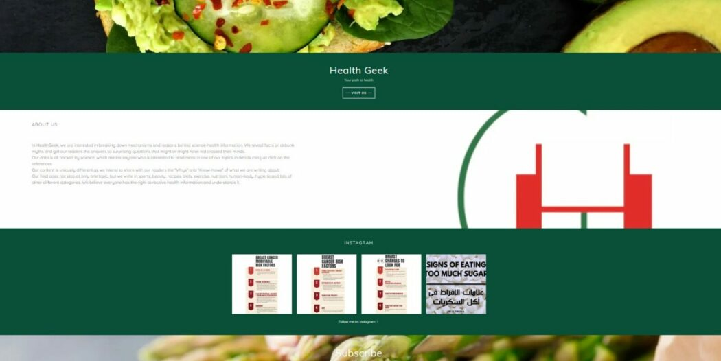 health tips health geek website homepage