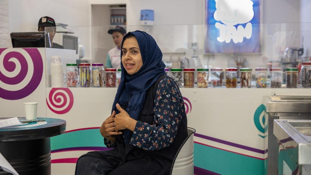jam rolled ice cream dubai Founder
