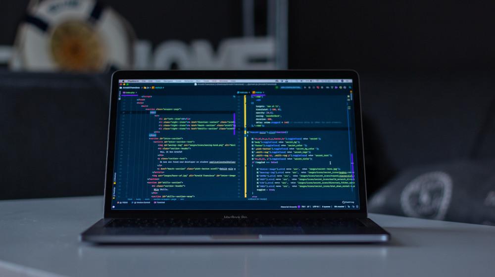 programming code laptop