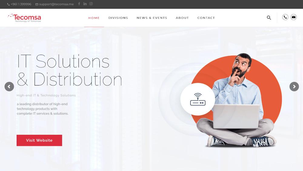 tecomsa it solutions website