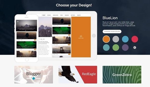 website to app design templates