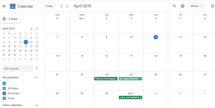 Free Google Calendar