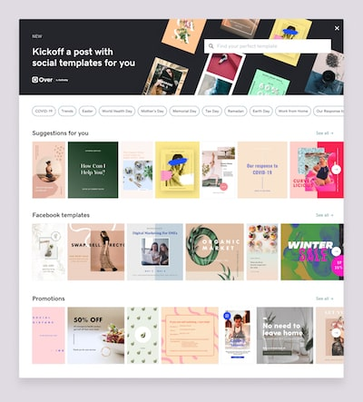 Template-Gallery-create content over