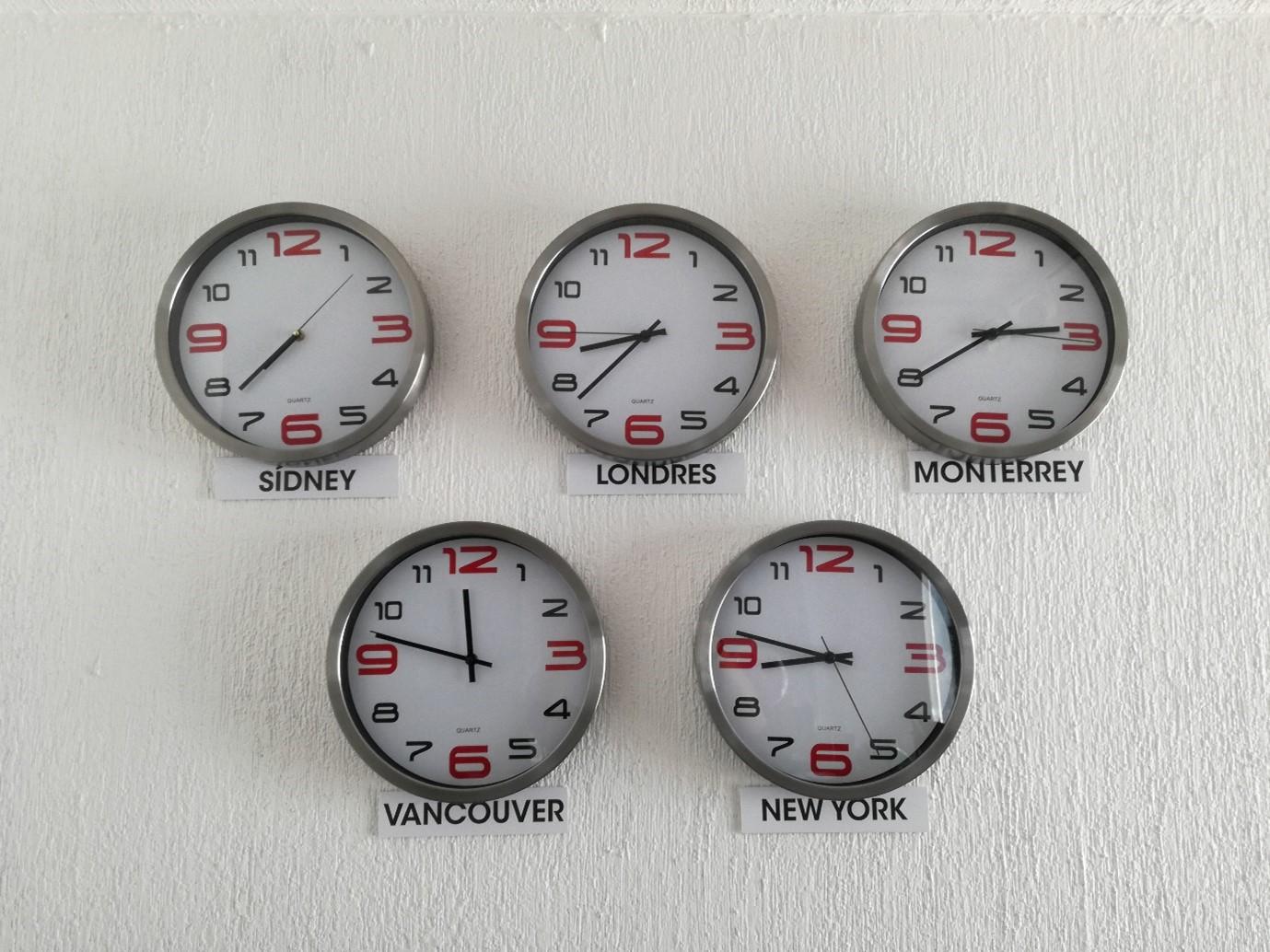 clocks hanging on the wall Instagram marketing