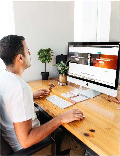 entrepreneur Faisal Sheraiff building his personal website using GoDaddy
