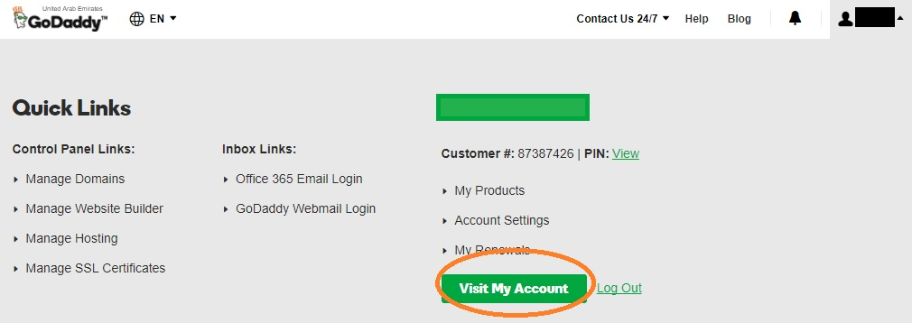 godaddy domain auto renewal control panel