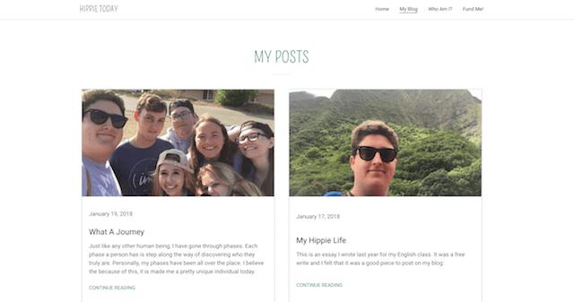 godaddy website builder blog feature hippie today