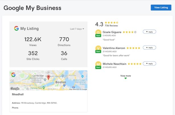 google my business listing monitor