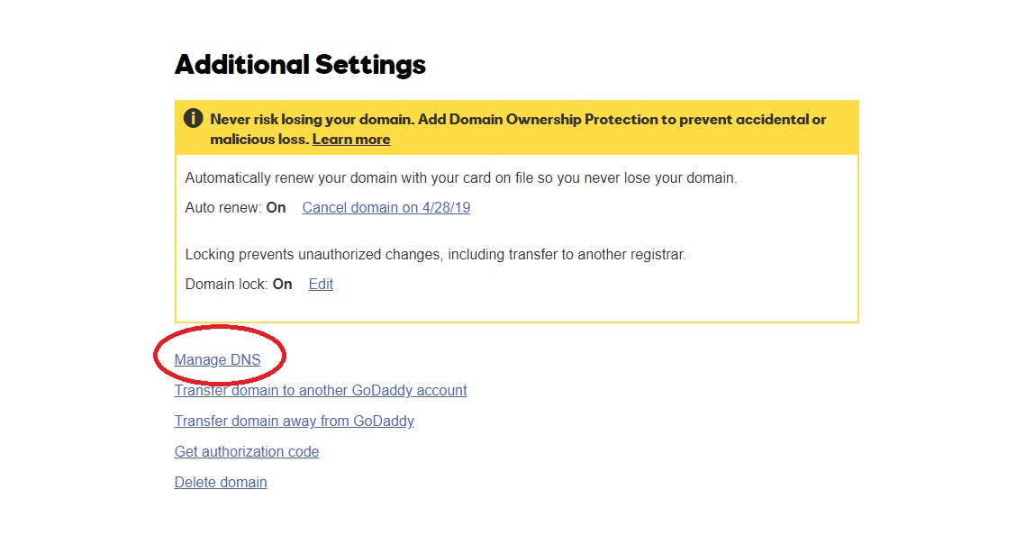 how to connect domain name to your hosting account godaddy account manage dns