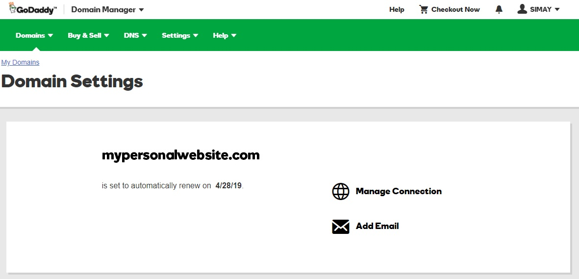 how to connect domain name to your hosting account godaddy account manager domains