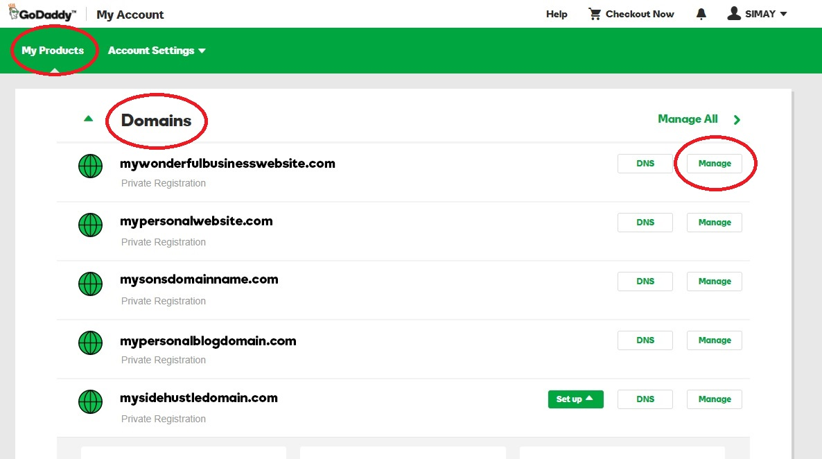 Image result for godaddy connecting domain to hosting