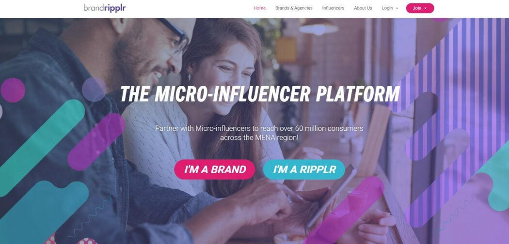 influencer marketing brandripplr homepage