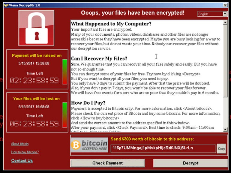 malware attacks ransomware message