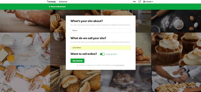 start a website inside website builder
