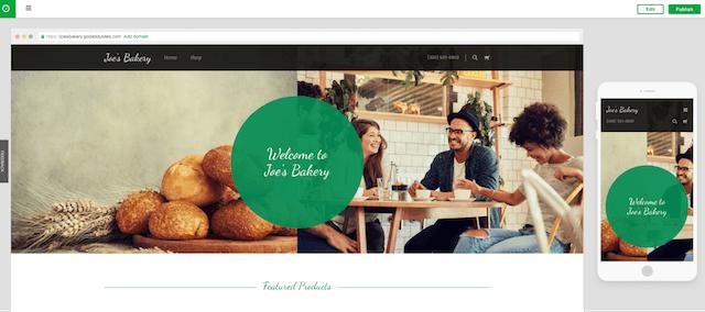 start a website website builder mobile design