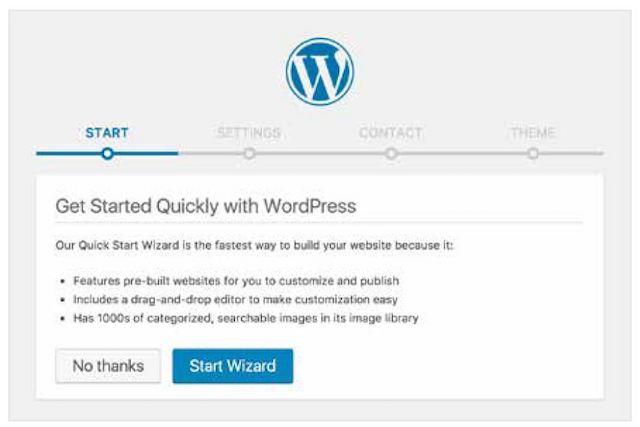 start a website wordpress
