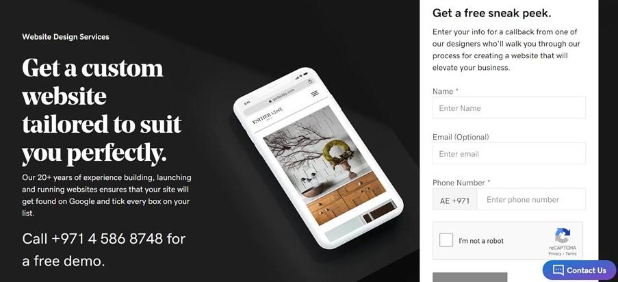 website design service screenshot