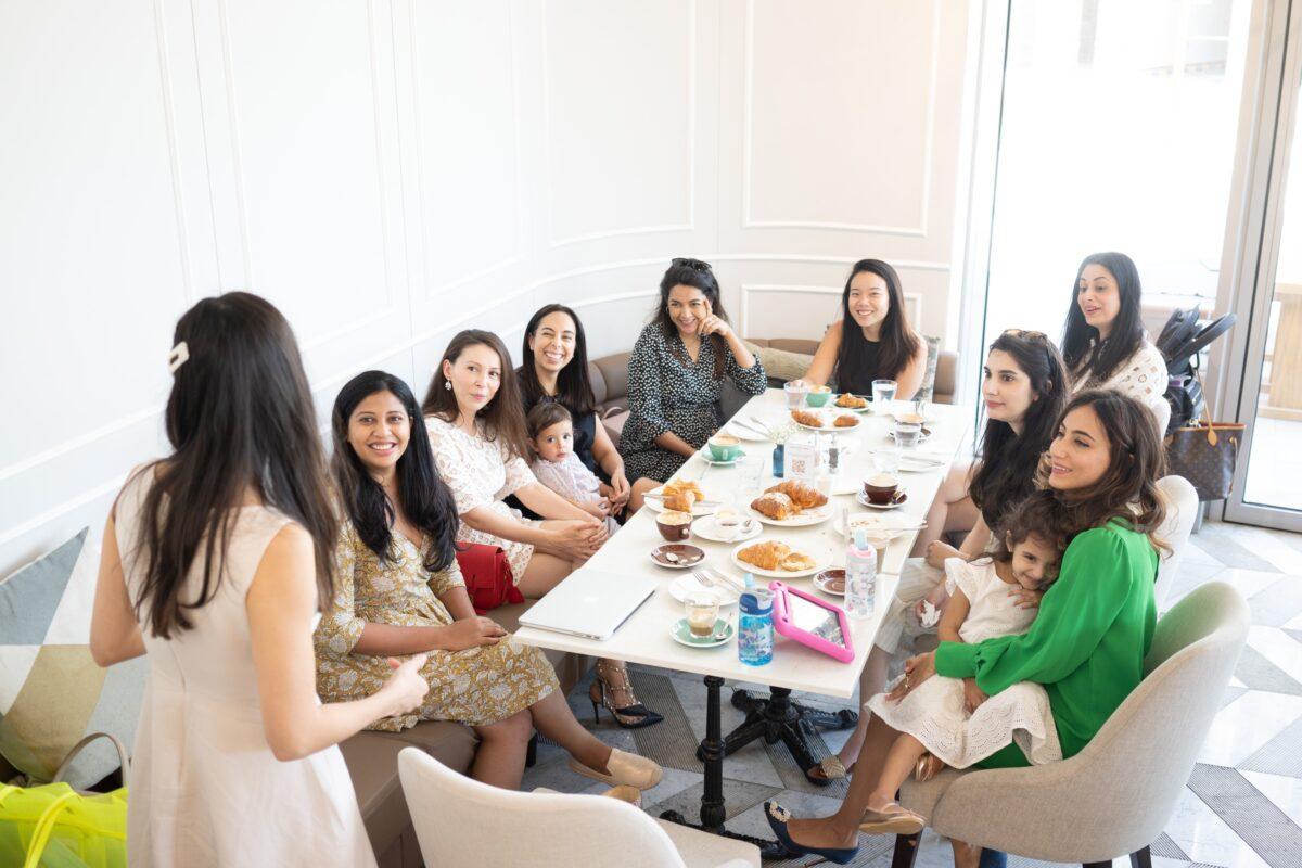 working moms entrepreneurs gathering networking